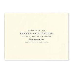 Truly by William Arthur Wedding 2018 129698 129673 Reception Card
