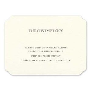 Truly by William Arthur Wedding 2018 129704 129676 Reception Card