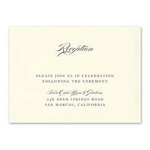 Truly by William Arthur Wedding 2018 129706 129677 Reception Card