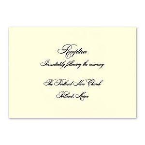Crane & Co. Crane Wedding 2013 115283 115268 Reception Card