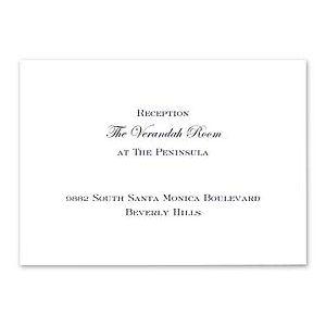 Crane & Co. Crane Wedding 2013 115323 115306 Reception Card