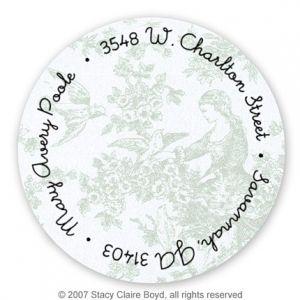 Blue Toile Label