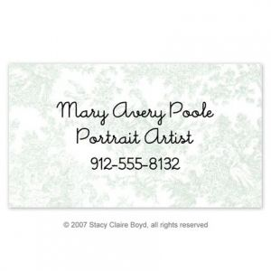 Blue Toile Calling Card