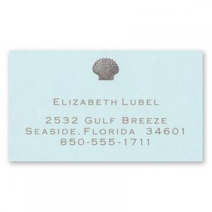 Seashell Calling Card