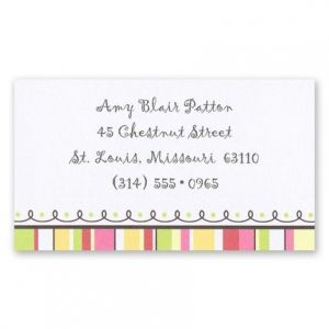 A Little Loopy Calling Card