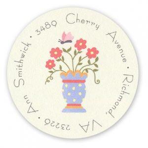 Garden Vase Label