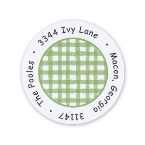 Green Check Label