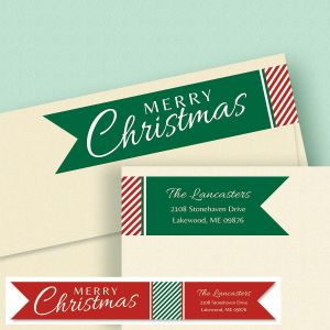 Holiday Connect Wrap Diecut Custom Address Labels