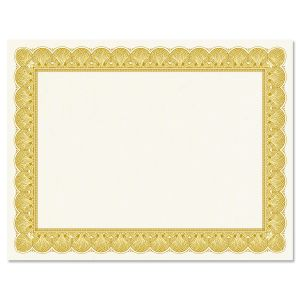 Gold Certificate on White Parchment - Set of 25