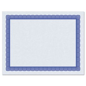 Executive Blue Certificate Paper on Blue Parchment