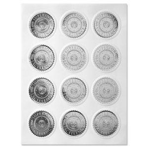 Silver Foil Excellence Certificate Seals