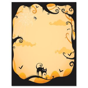 Orange Fright Night Letter Papers