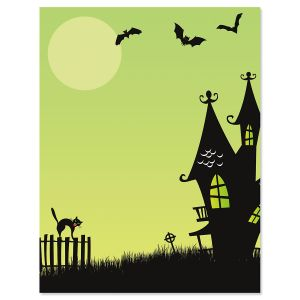 Haunted House Halloween Letter Papers