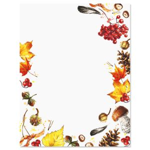 Splash of Harvest Letter Papers
