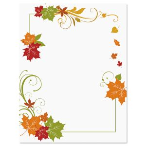 Fall Flourish Frame Letter Papers