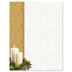 Gold Candle Letter Papers