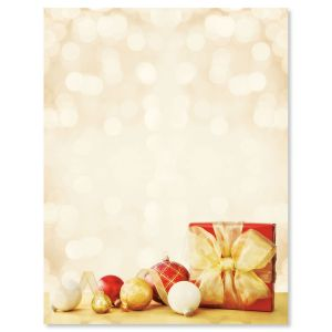 Red and Gold Gift Letter Papers