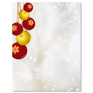 Yuletide Ornaments Letter Papers