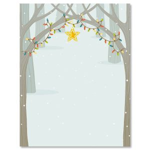 Festive Forest Letter Papers