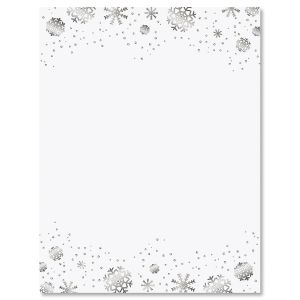 Silver Snowflakes Letter Papers