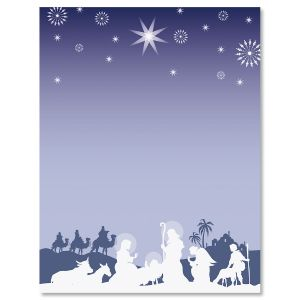 Nativity Silhouette Letter Papers
