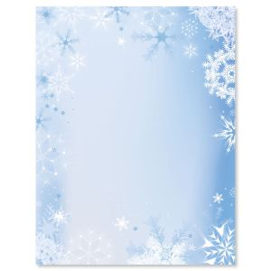 Snowfall & Flakes Letter Papers