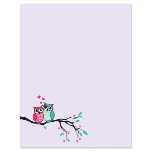 Owls in Love Letter Papers