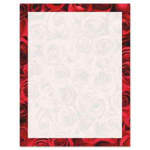 Bed of Roses on White Letter Papers