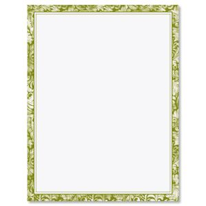 Green Border Letter Papers