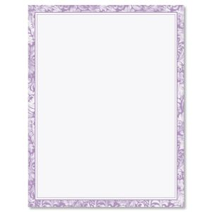 Purple Border Letter Papers