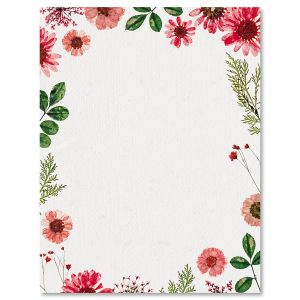 Sun Dried Flowers Letter Papers