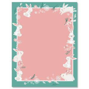 Spring Bunnies Letter Papers