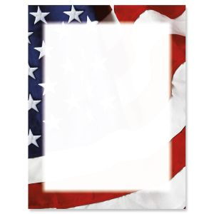 Grand Ol' Flag 4th of July Letter Papers