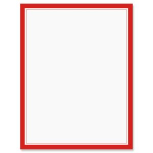 Red Frame 4th of July Letter Papers