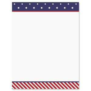 Stars and Stripes 4th of July Letter Papers