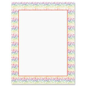 Splatter Rainbow Letter Papers