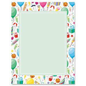 Surprise Party Birthday Letter Papers
