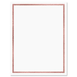 Rose Gold Foil Letter Papers