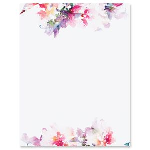 Brushed Floral Letter Papers