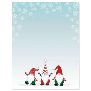 Christmas Gnomes Letter Papers