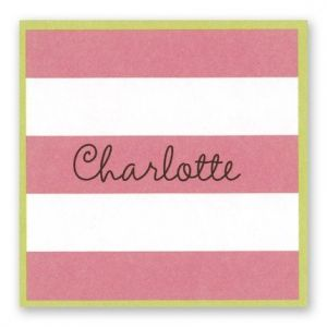 Pink & White Stripes Sticker