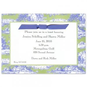 Blue Toile Invitation