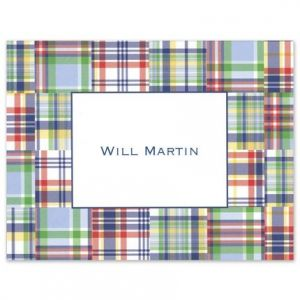 Blue Madras Note Card
