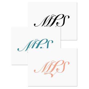 Elegant Monogram Note Cards