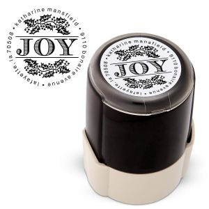 Joy Round Address Stamp