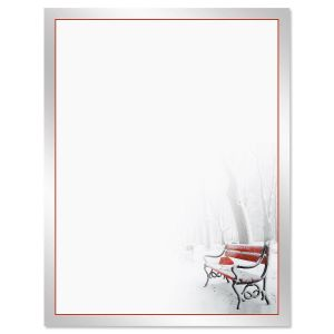 Red Bench Letter Papers