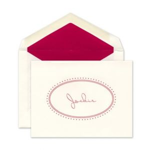 Oval Note Card