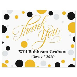 Grad Dots Graduation Thank You Note Cards