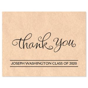 Kraft Graduation Thank You Note Cards