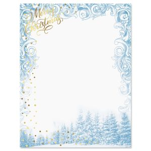 Winter Sparkle Christmas Letter Papers